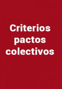 Criterios pactos colectivos o PB