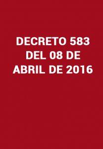 Decreto 538 2016