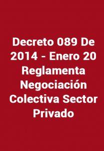 Decreto 089 De 2014
