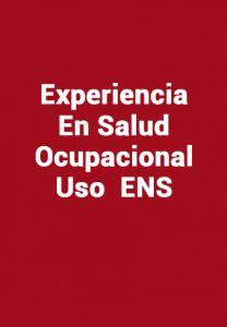 Experiencia En Salud Ocupacional