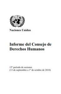 Informe del Consejo de Derechos Humanos ONU 2010