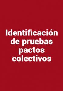 Identificación de pruebas pactos colectivos y PB