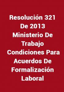 Resolución 321 de 2013